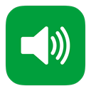 sound, Metroui ForestGreen icon
