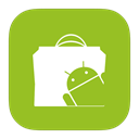 Flurry, Android, google, market YellowGreen icon