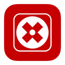 Metroui, Uninstall Firebrick icon