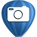Corel, photo, paint SteelBlue icon