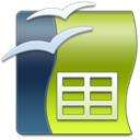 Openoffice, Calc YellowGreen icon