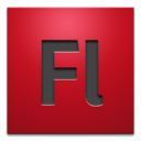adobe, Flash, cs4 Firebrick icon