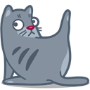 Cat, Clean LightSlateGray icon