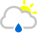raindrop, sun Black icon
