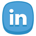 Linkedin CornflowerBlue icon