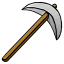 pickaxe, iron Black icon