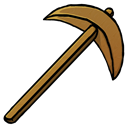 wooden, pickaxe Black icon