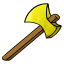 gold, Axe Black icon