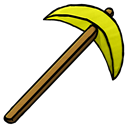 gold, pickaxe Black icon