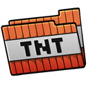 tnt, Folder Black icon