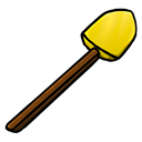 shovel, gold Black icon