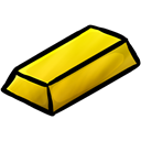 Ingot, gold Black icon