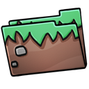 Folder, grass Black icon