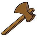 Axe, wooden Black icon