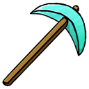 pickaxe, diamond Black icon