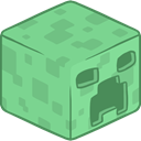 3d, creeper DarkSeaGreen icon
