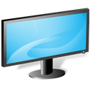 monitor, screen LightSkyBlue icon
