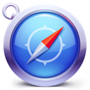safari, Browser RoyalBlue icon