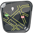 navigation, Maps, Guide, Route, Map DarkSlateGray icon