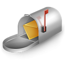 mail box, mail Black icon