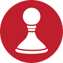 Game, chess, red Firebrick icon
