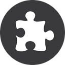 grey, Puzzle DarkSlateGray icon