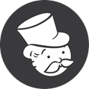 Monopoly, grey DarkSlateGray icon