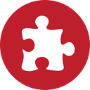 Puzzle, red Firebrick icon