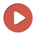 youtube, play IndianRed icon