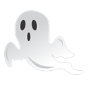 spooky, halloween, Ghost Black icon