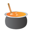Bowl, soup, Cauldron Black icon