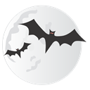 halloween, spooky, Bats, Moon Gainsboro icon