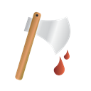 halloween, murder, Axe Black icon