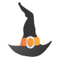 hat, halloween, witch Black icon