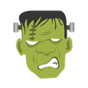 halloween, frankenstein, monster YellowGreen icon