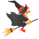 halloween, broom, witch Black icon