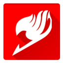 Fairy tail, fairy, tail Red icon