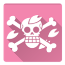 Chopper, one piece PaleVioletRed icon