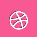 dribbble, Ball, Social PaleVioletRed icon