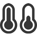 weather, Cold, teperature, hot, thermometer, grey DarkSlateGray icon