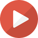 movie, video, youtube, play, social media, Multimedia, Social, Camera, Arrow, film, player IndianRed icon