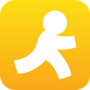 Aid, Aim, Forward, next, Go, Run, Social, Target Gold icon