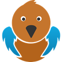 twitter, Social, tweet, twitter bird, bird Chocolate icon