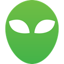 Alien, Ufo, Mask, unknown, Fantastic, sci fi, green, alien head LimeGreen icon
