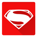 Man of steel, of, steel Red icon