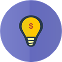 bulb, Idea SlateBlue icon