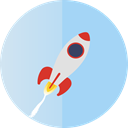 startup, Rocket LightBlue icon