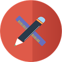 ruler, Pen, Design IndianRed icon