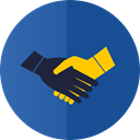 Hands, Handshake, partnership DarkSlateBlue icon