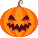 jack-o-lantern, halloween, monster, pumpkin, scary, spooky DarkOrange icon